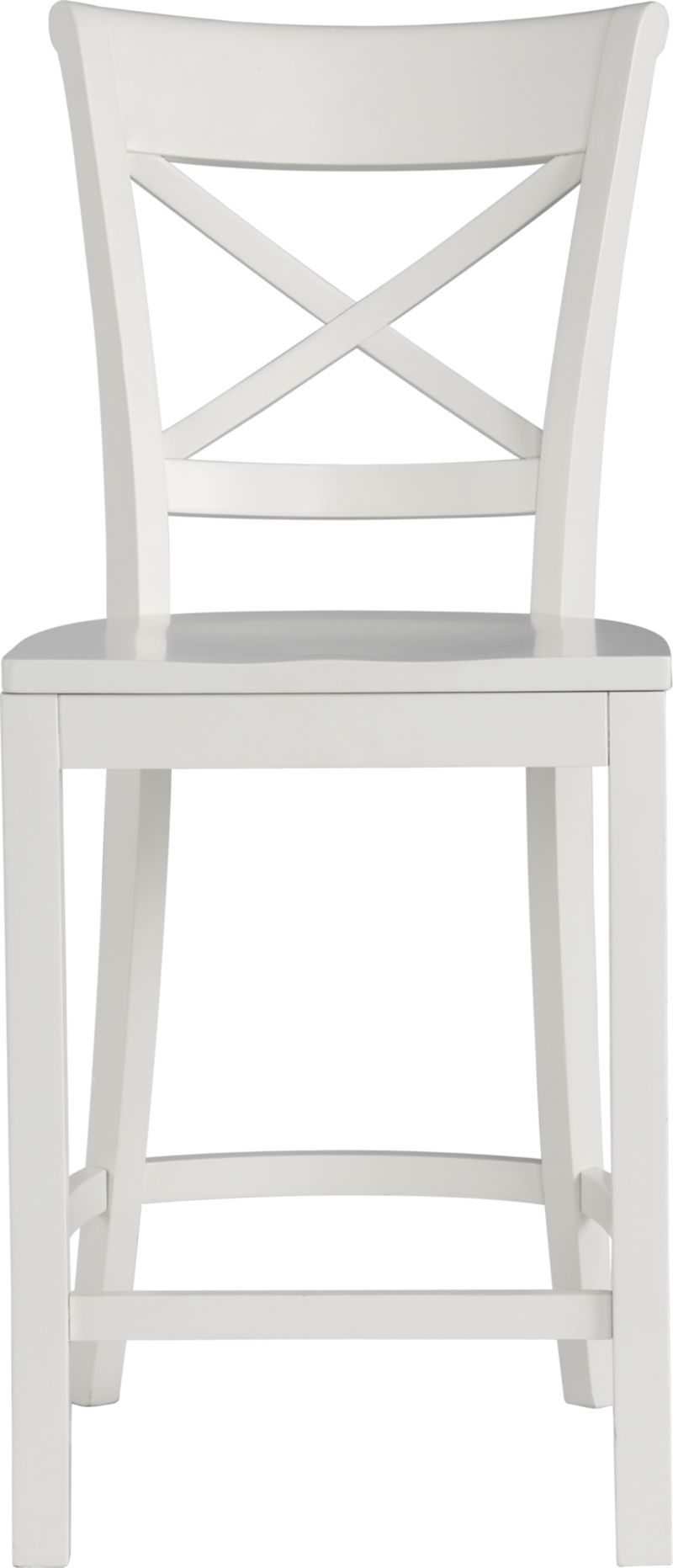 Vintner 24 White Counter Stool Crate And Barrel White Counter