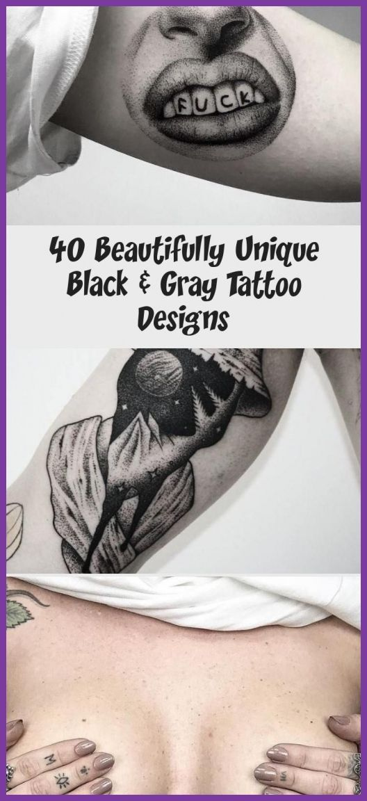 Black And Gray Tattoos 34303 40 Beautifully Unique Black & Gray Tattoo Designs