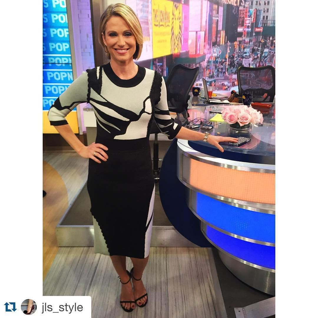 INCREDIBLE Knit Dress By Raoul On Amy Robach Of Good