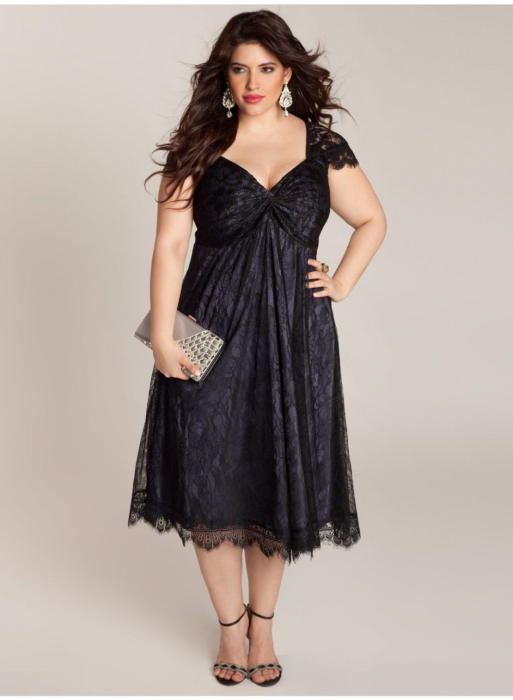 Plus size formal dresses rachelle plus size lace dress for Plus size wedding party dresses