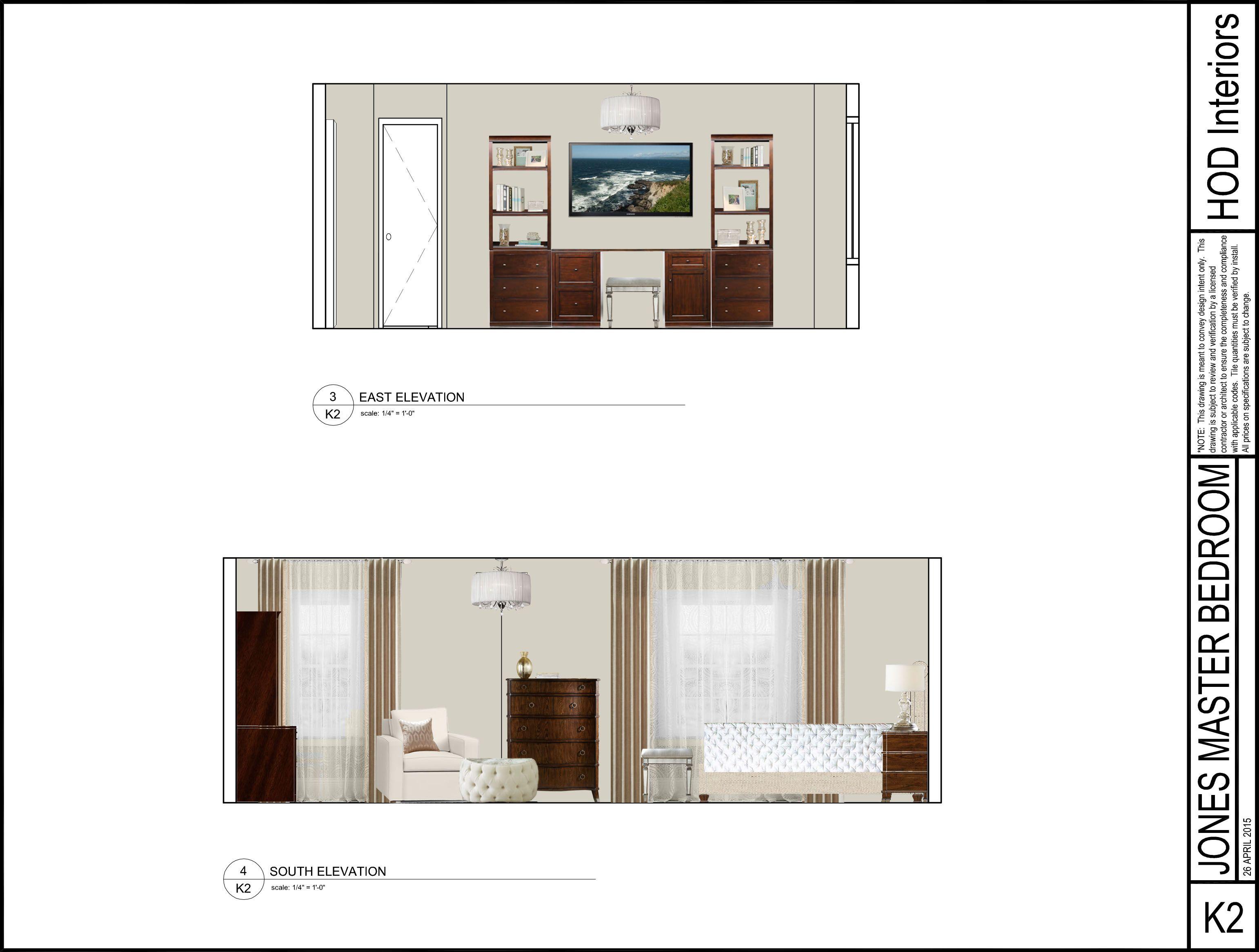 Front Elevation Beds : Photoshop elevation laura jones design service bedroom