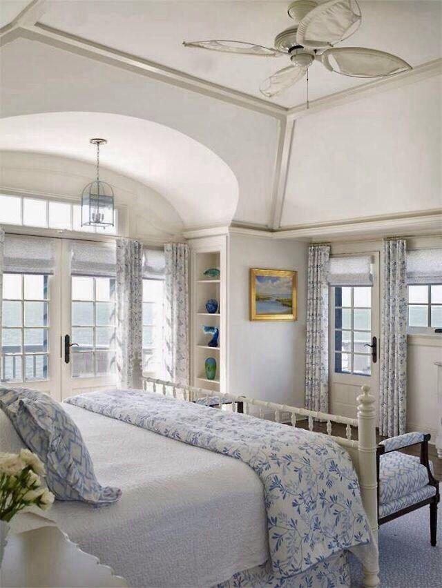 Cool Coastal Bedroom Elegant Cottage Style In Blue And White Interior Design Ideas Truasarkarijobsexamcom