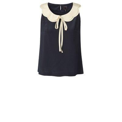 Scalloped neckline blouse, lovely!  Orla Kiely