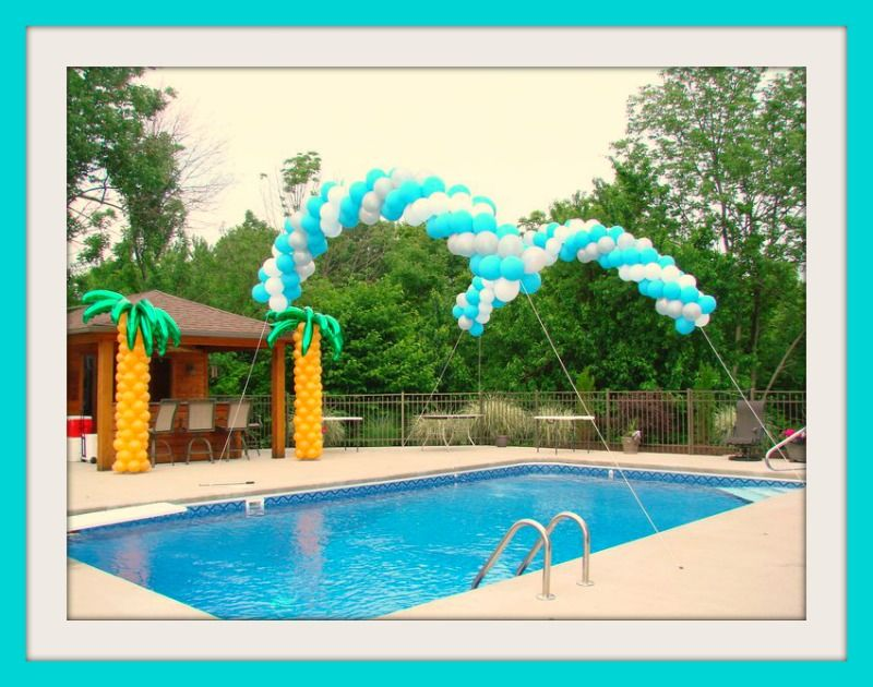 Perfect pool party decor outdoor events pinterest for Garden pool party