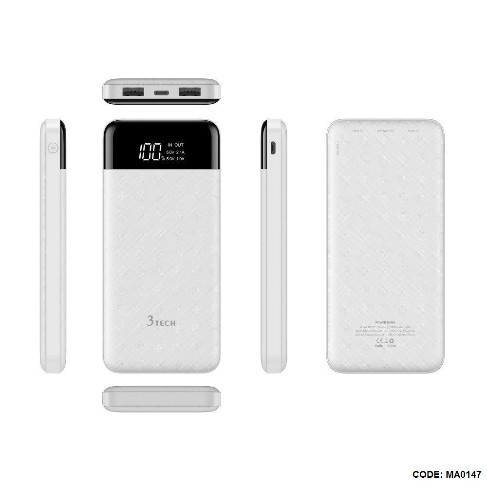 Power Bank 10000 Mah 3tech بسعر 290ج بدل من 450ج Phone Accessories Phone Electronic Products