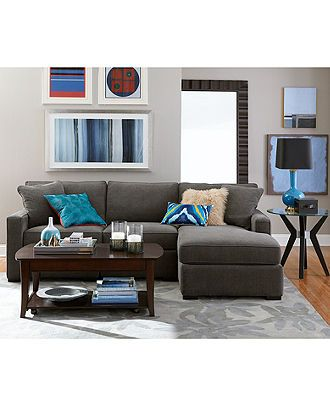 Radley Fabric Sectional Sofa Collection Created For Macy's Pleasing Modular Living Room Design Design Decoration