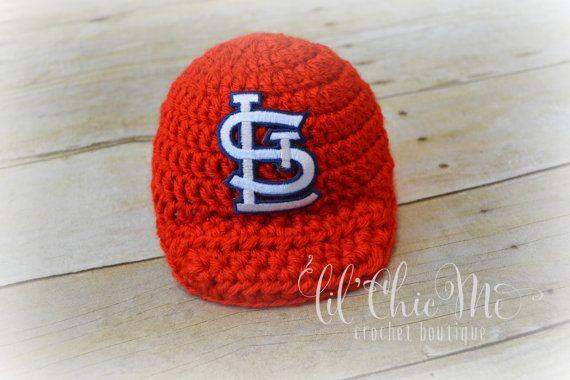 a540e1bd St louis cardinals baby baseball hat handmade crochet photo prop ...
