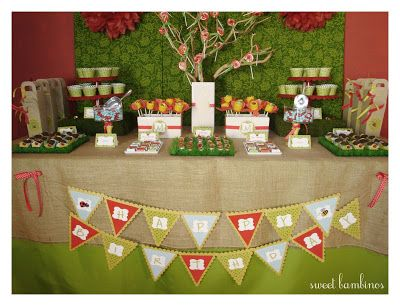 sweet bambinos: {Real Party} Bug's Life Dessert Table