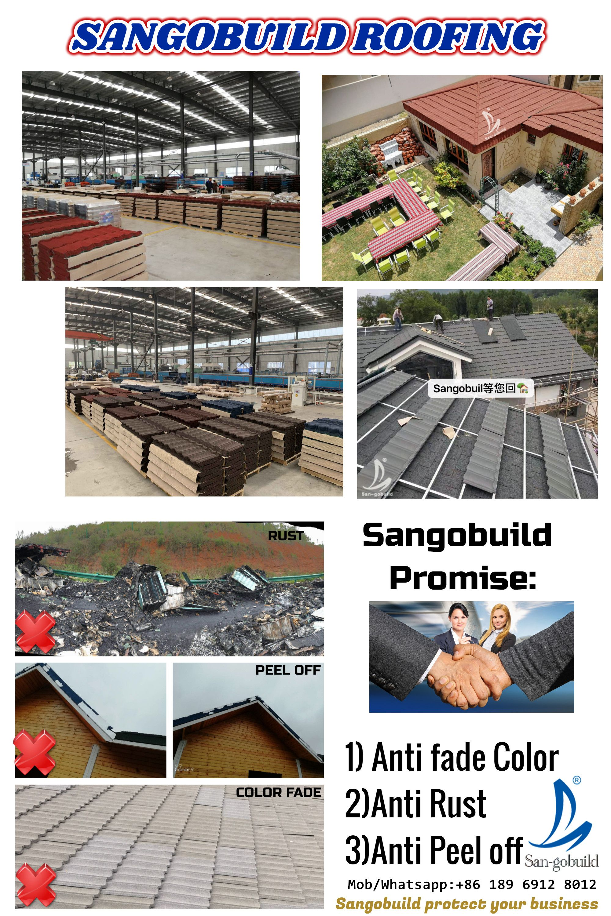 Sangobuild Roofing Roofing Fade Color Roof Shingles