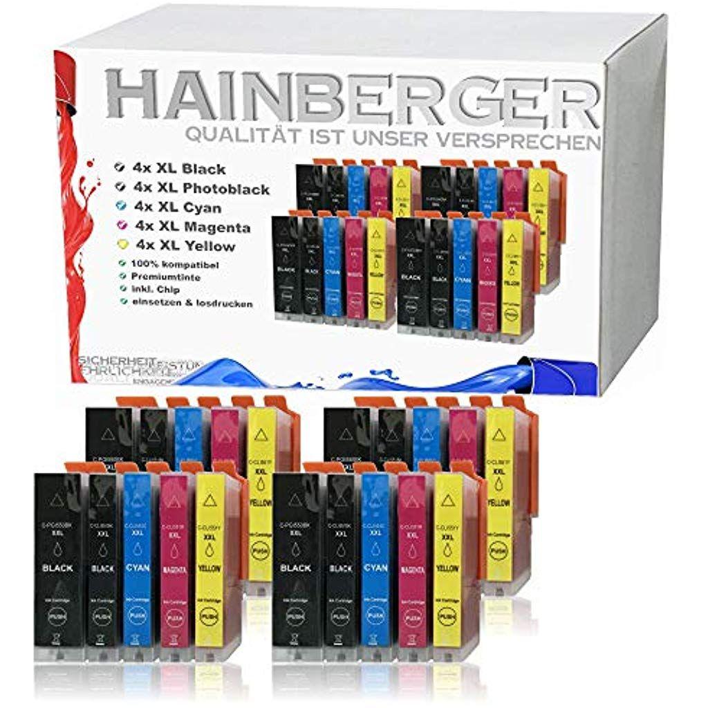 20x Hainberger Xxl Patronen Kompatibel Zu Canon Pgi 550 Xl Cli 551 Fur Pixma Ip 7250 Ix 6850 Mg 5450 Mg 5550 M Datenspeicher Speicherkarte Tintenstrahldrucker