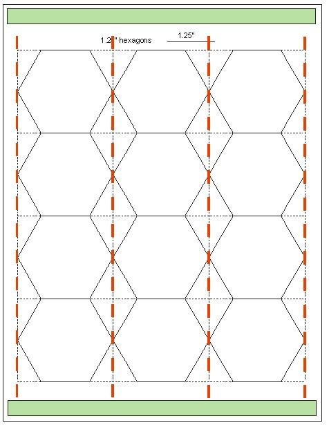 Geta's Quilting Studio: Tips for quickly cutting hexagon templates ... : hexagon template quilting - Adamdwight.com