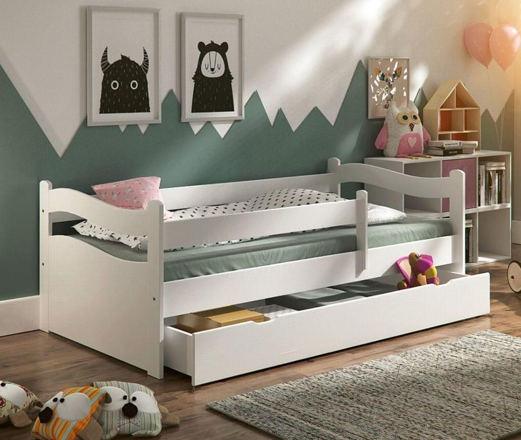 Kinderbett Jugendbett Kinderzimmer Abby 160x80cm Schublade Rollrost Matratze Kinderbett Jugendbett Kinder Bett Kinderbett