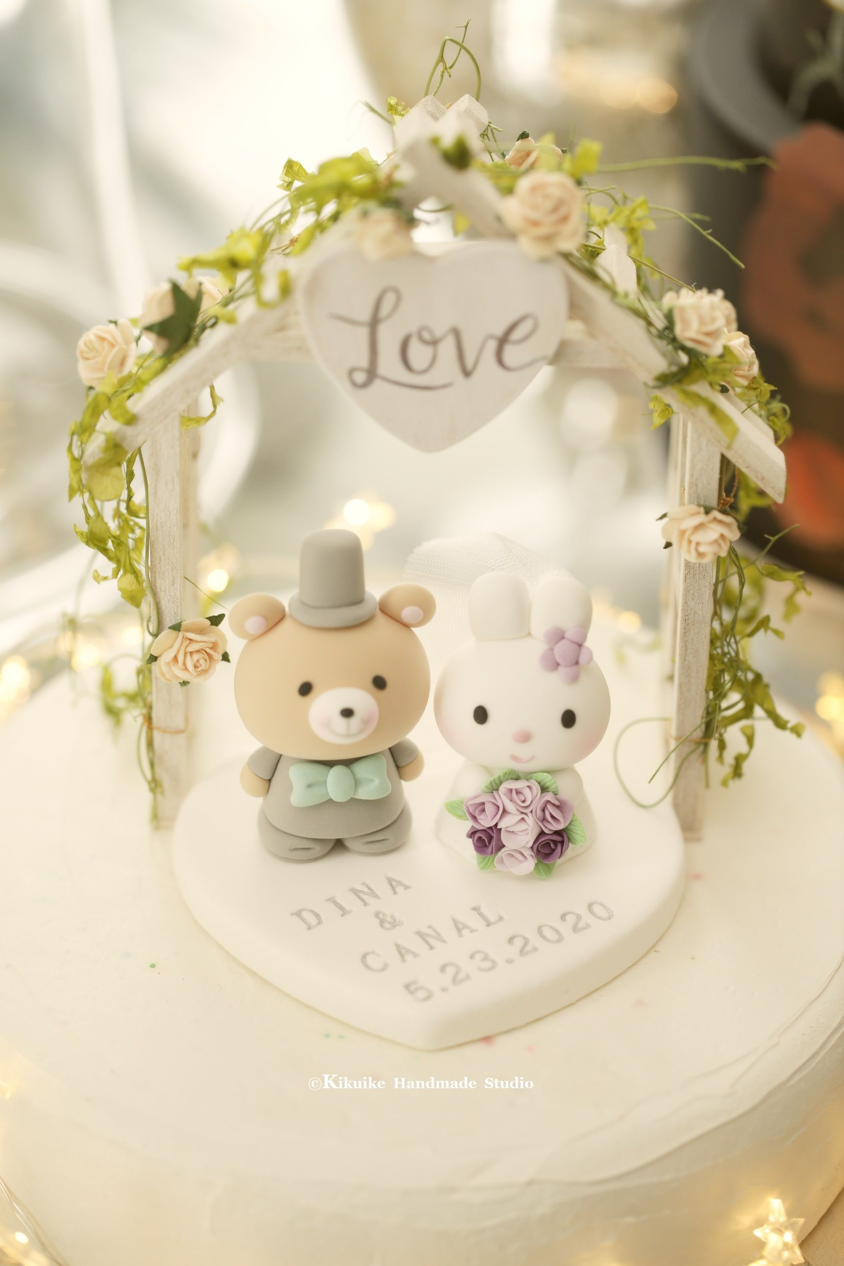 Rabbit And Bear Wedding Cake Topper Etsy Wedding Cake Topper Etsy Wedding Cake Decorations Wedding Cake Toppers