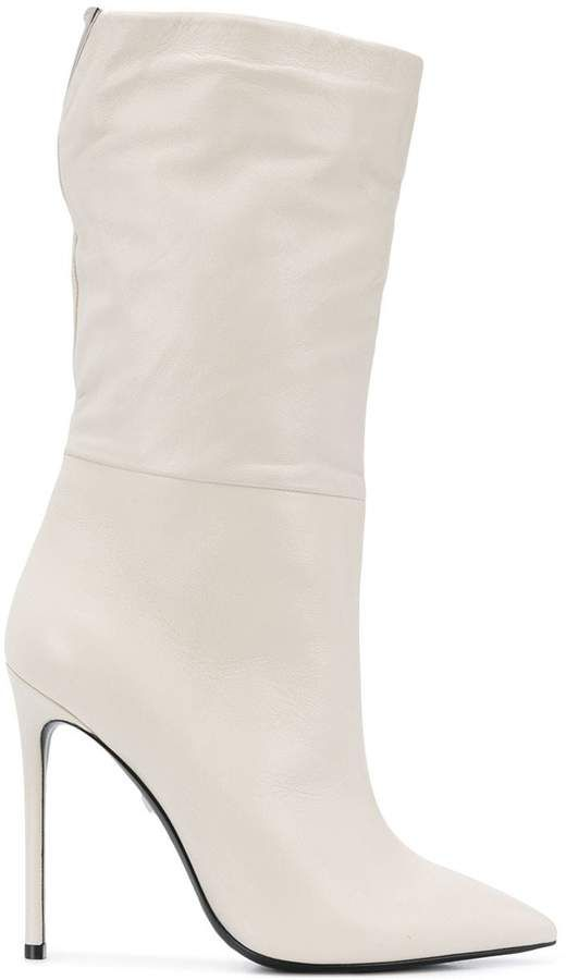 Grey Mer pullon stiletto ankle boots