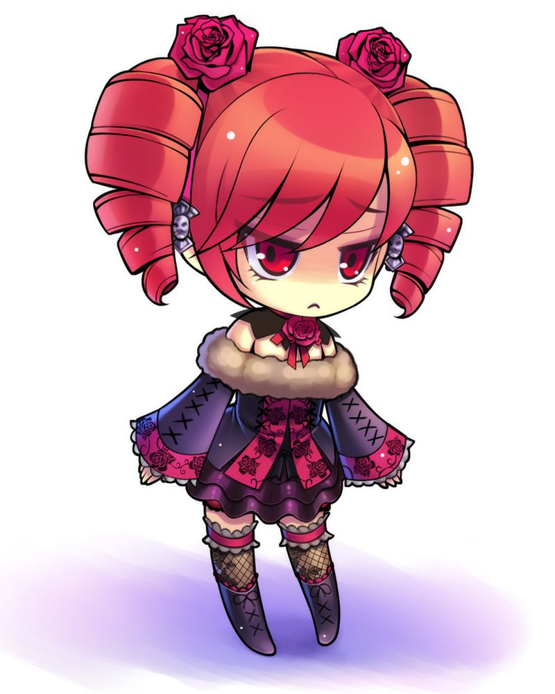Emo Anime Chibi Girl tagme (looks like amy from soul caliber):)