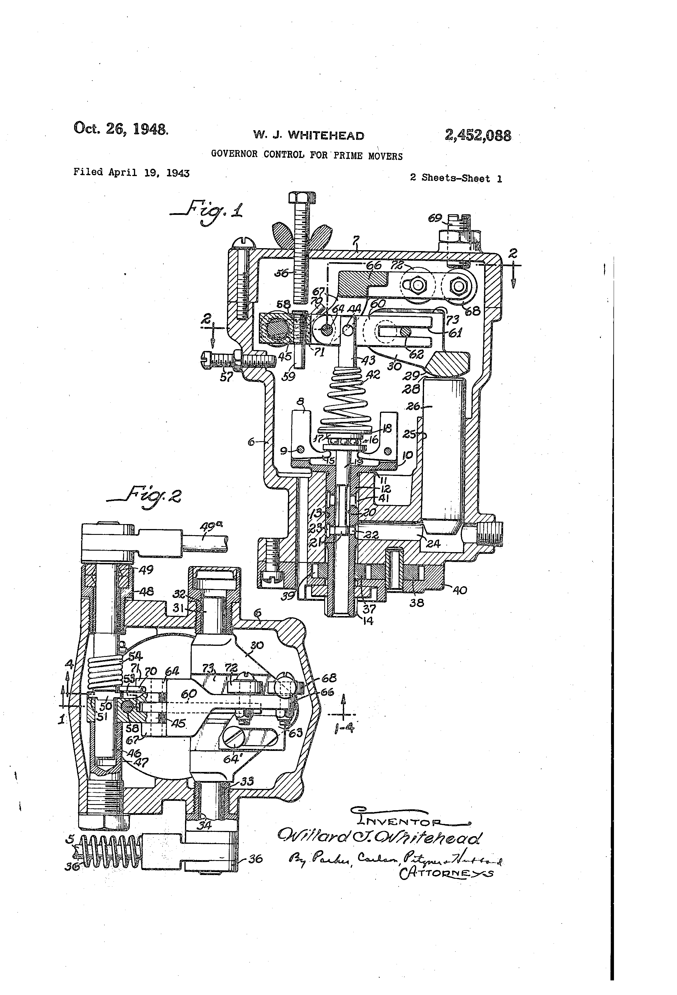 Woodward Governor Company's patent for the type SG