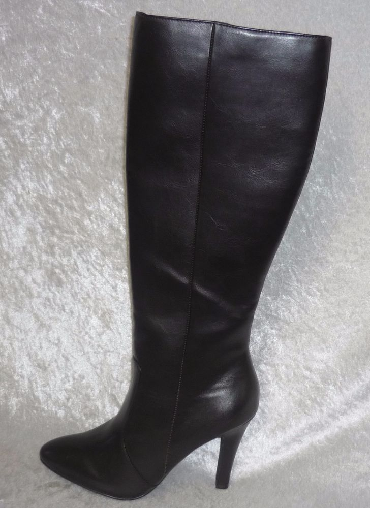 worthington womens boots high heel daniela brown solid size