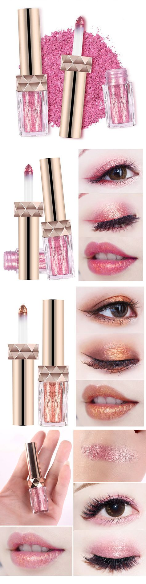 2 In 1 Mermaid Eye Shadow Makeup Waterproof Lipstick Loose