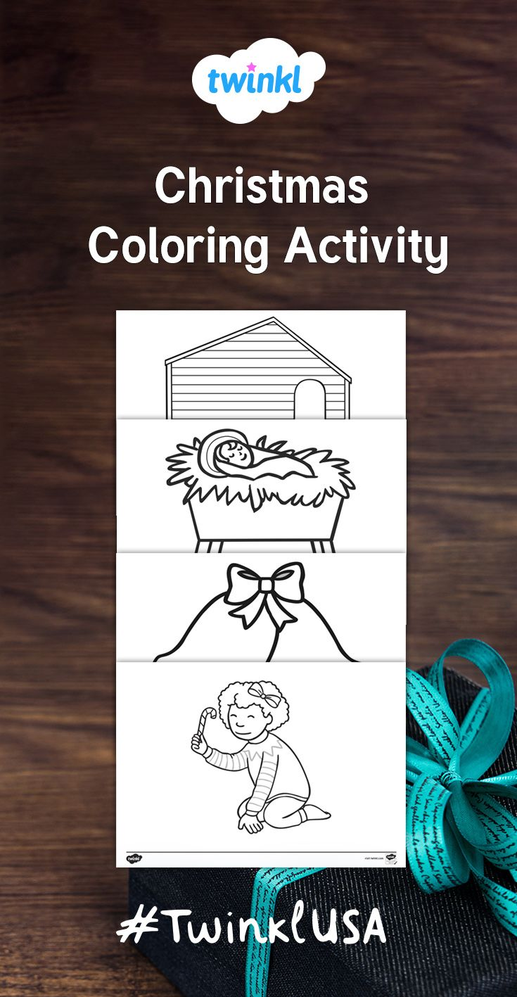 These Great Christmas Themed Coloring Pages Will Encourage Creativity And Enhance The Fine Moto Christmas Teaching Resources Color Activities Christmas Colors