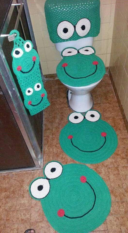 Sapo Jogo Jogos De Banheiro Tapete Para Banheiro Jogos De Banheiro Croche