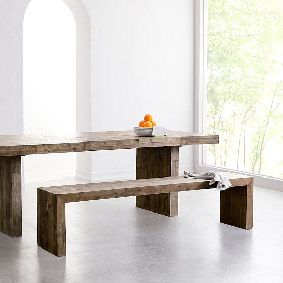 Emmerson Dining Bench 73 Quot Stone Gray Pine Set Of 2