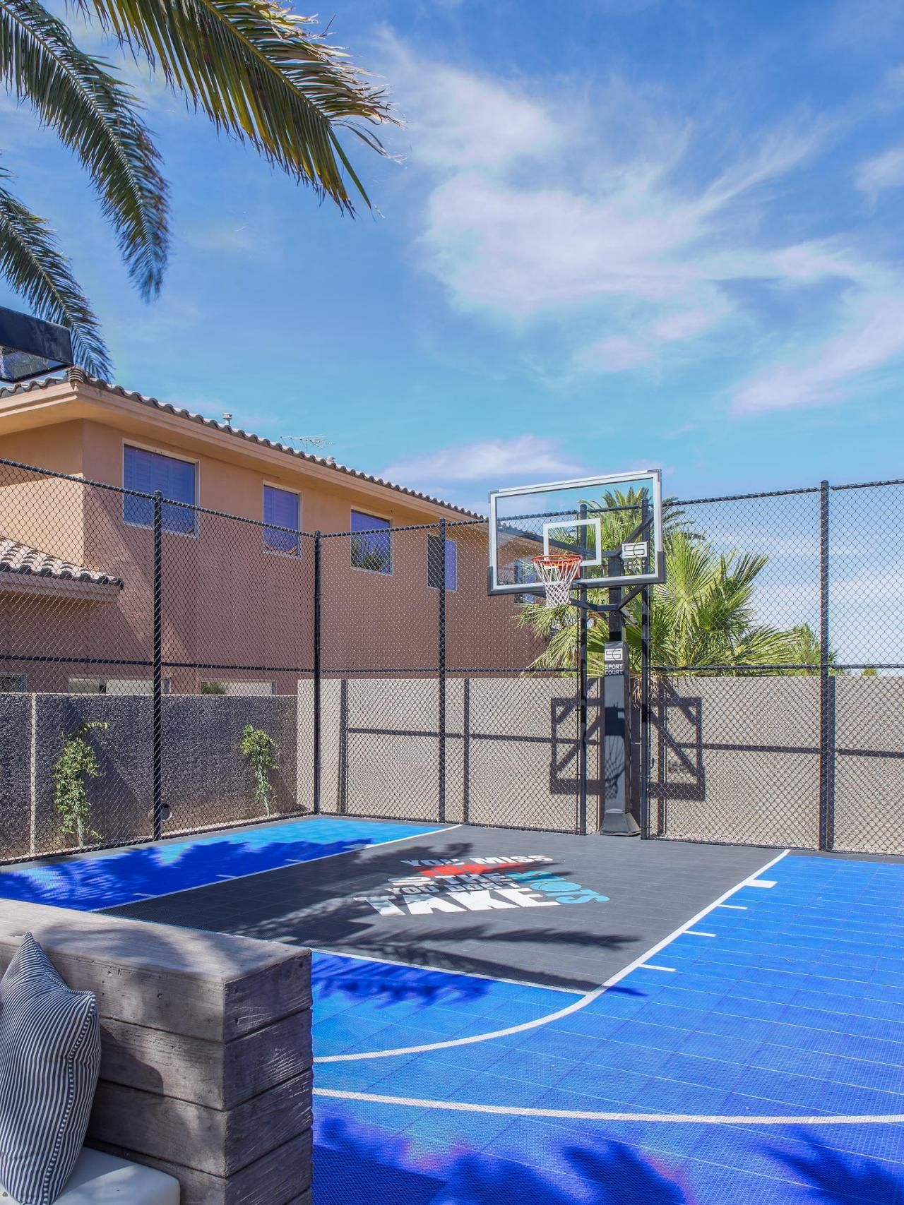 Drew and Jonathan Scott installed a basketball court in the ...
