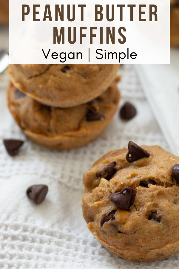 Peanut Butter Chocolate Chip Muffins Such A Sweetheart Recipe In 2020 Vegan Baking Recipes Peanut Butter Chocolate Chip Muffins Peanut Butter Chocolate Chip
