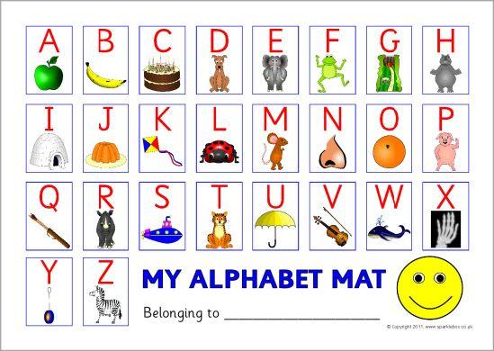 alphabet picture mat capitals sb5819 sparklebox education prek alphabet pictures free. Black Bedroom Furniture Sets. Home Design Ideas