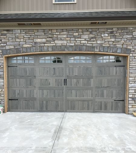 New Driftwood Woodtones Door This Door Is Shown In Long Panel Steel Back Insulated With Arched Stockton Wi Garage Doors Garage Door Colors Garage Door Styles