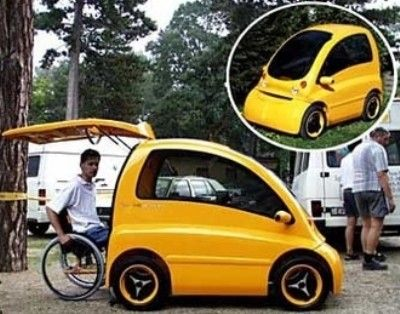 kengaru.jpg FOLLOW IMAGE LINK TO BRIEF INTRODUCTION AND A VIDEO SHOWING CAR IN ACTION. AS WELL AS A LINK TO COMPANY'S WEBSITE (TAG: WHEELCHAIR CAR;