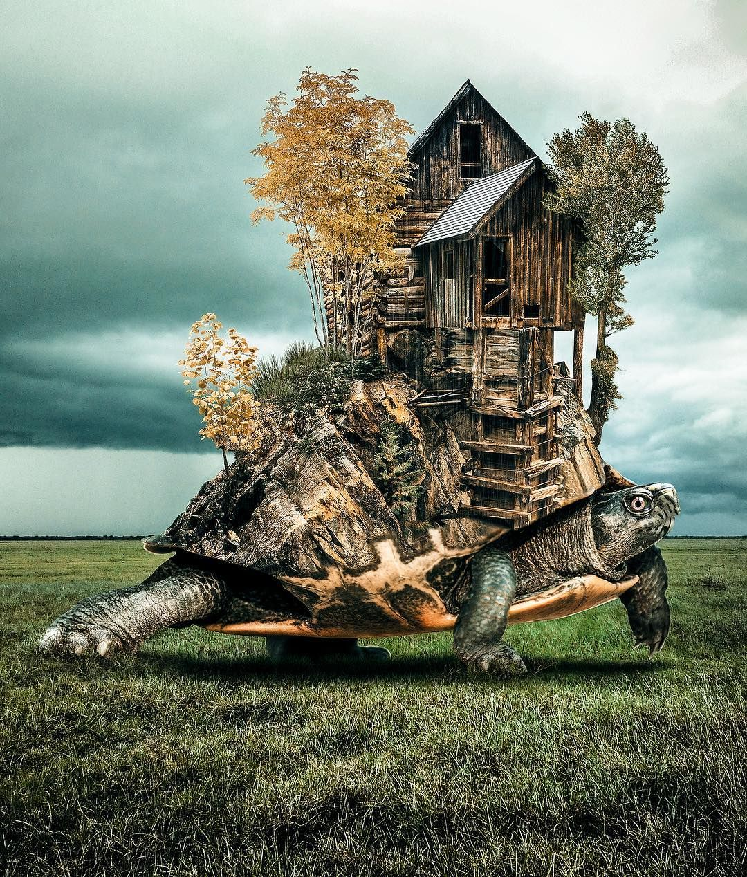 Пейзажи фантазий фотоманипулятора Yang Yongliang