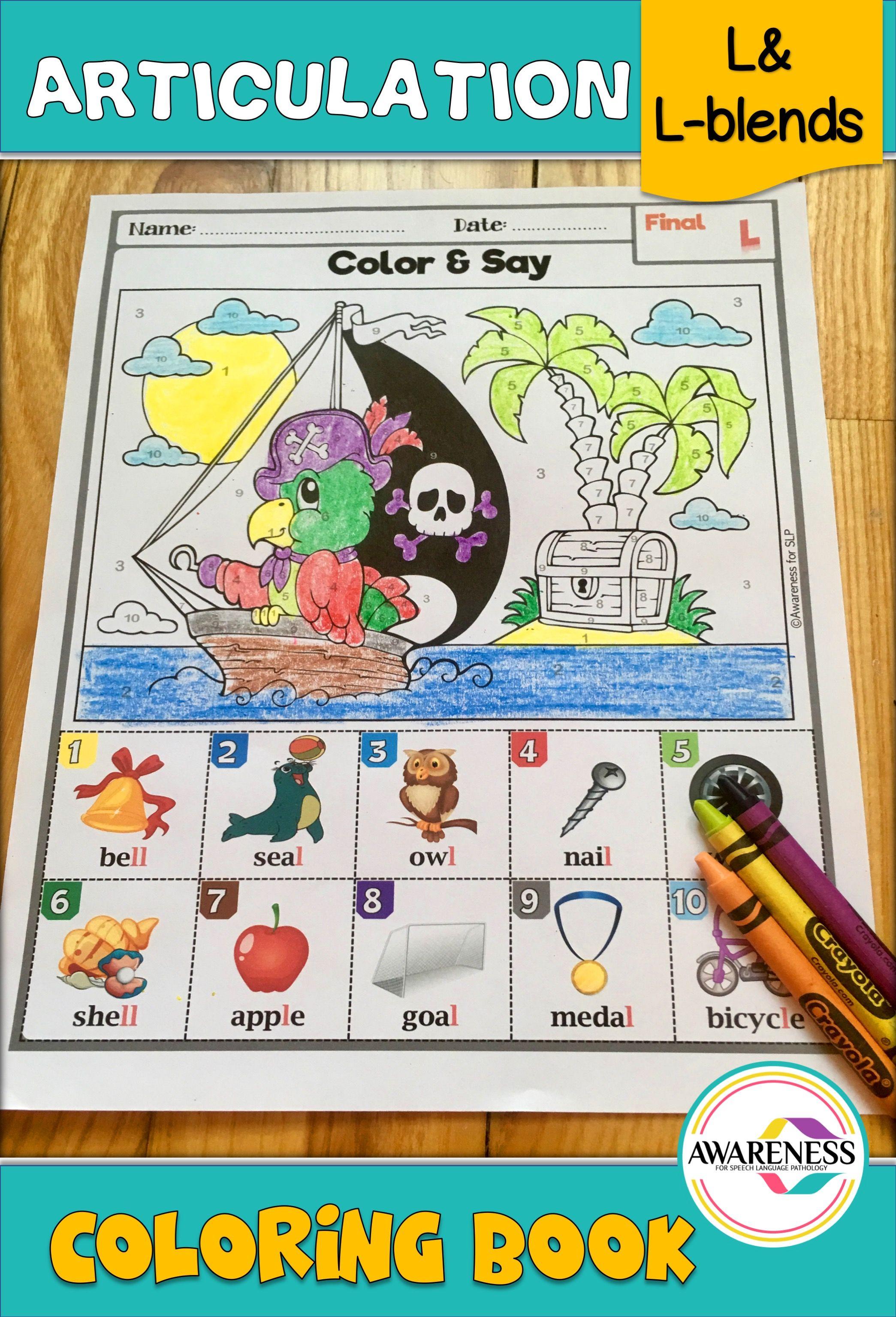 L Blends Coloring Pages