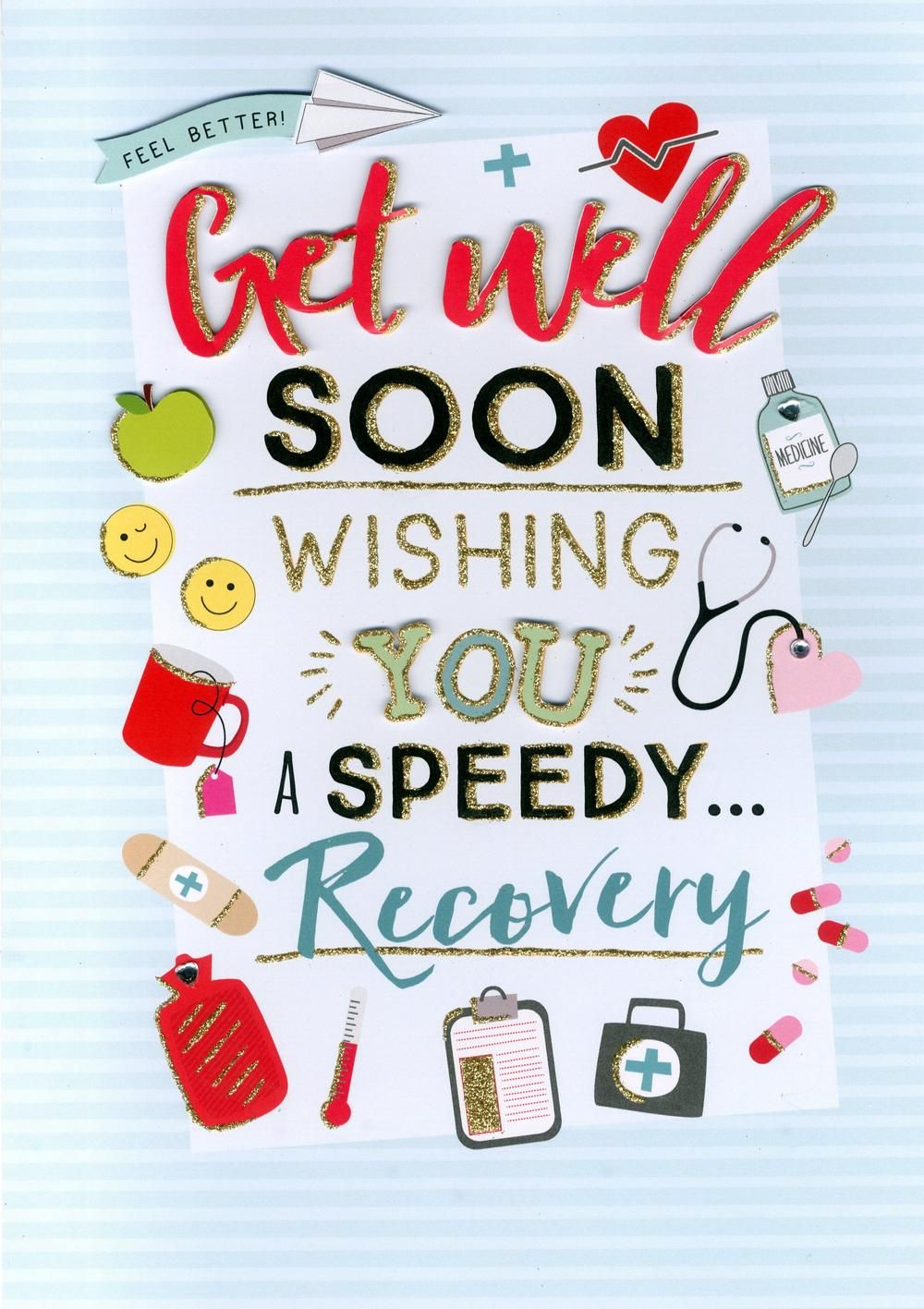 Get Well Soon Gigantic Greeting Card Cards Love Kates Get Well Soon Get Well Cards Get Well Soon Quotes Get well soon card template