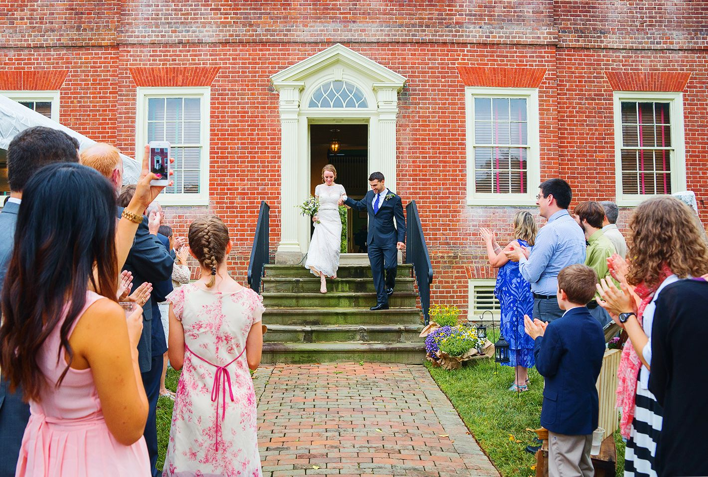 Gorgeous Bride And Groom Entrance Photo At Montpelier Mansion Jessica Nazarova Photography