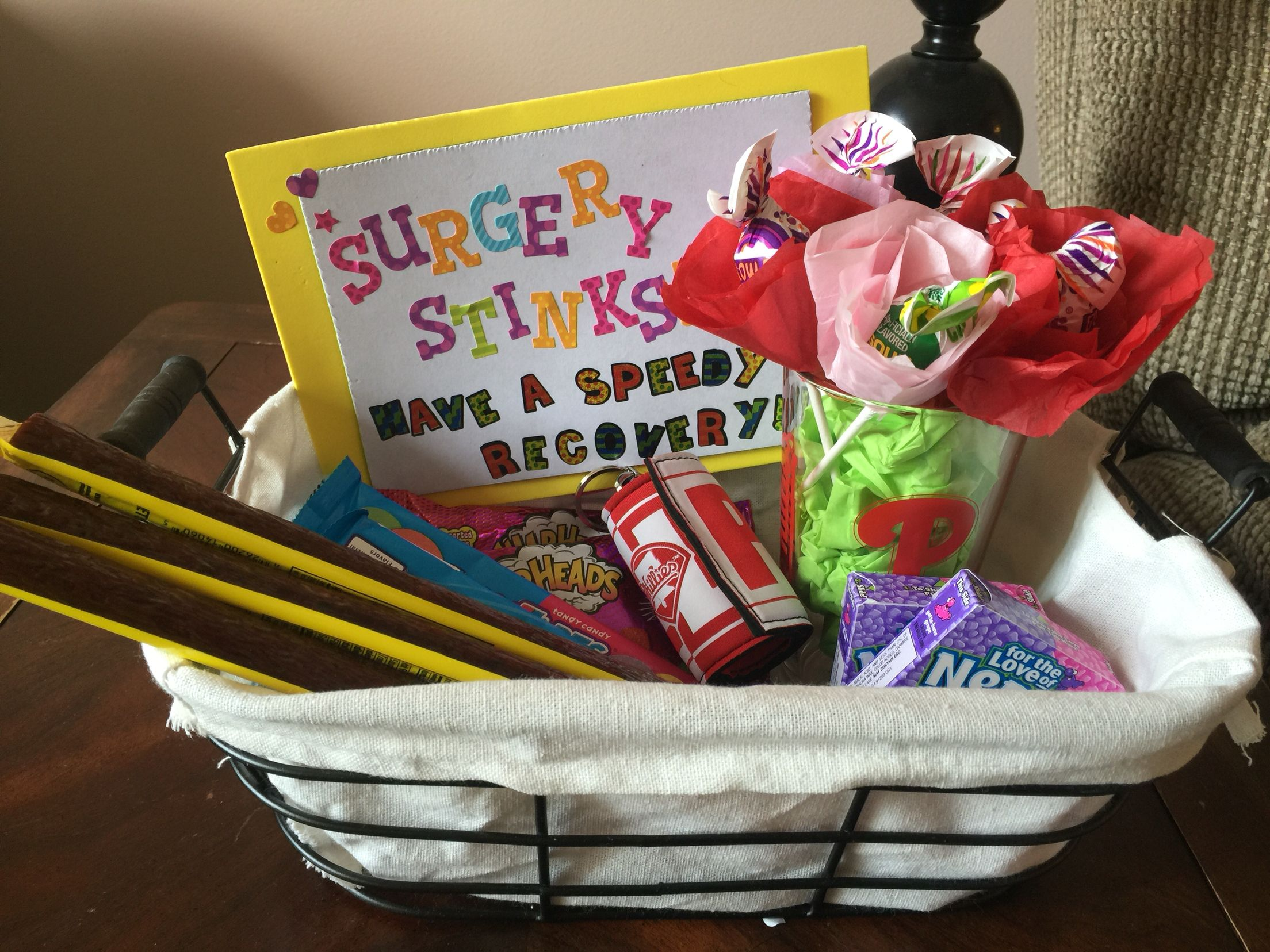 After Surgery Gift Basket Speedyrecovery Getwell