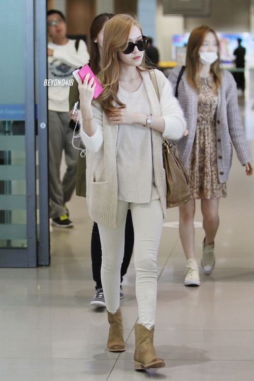 Snsd Jessica Korean Stars Airport Fashion Casual Style Pinterest Snsd Jessica Jung