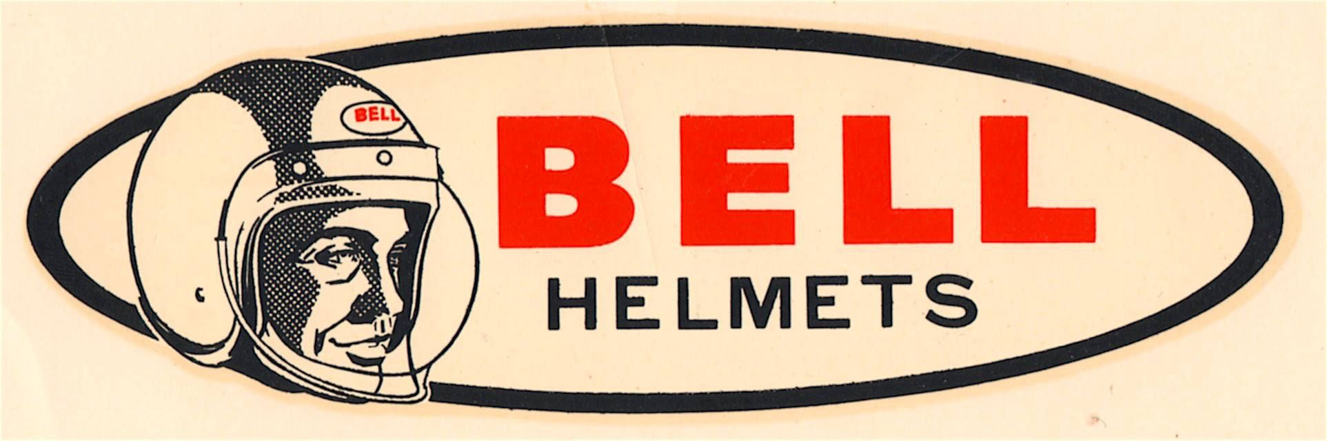 Bell helmets vintage racing decal