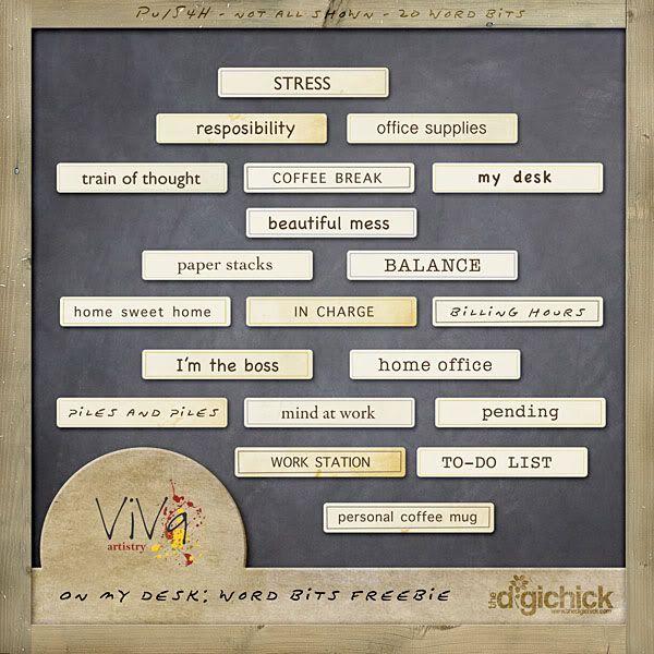 ViVa Artistry: On My Desk and FREEBIE!