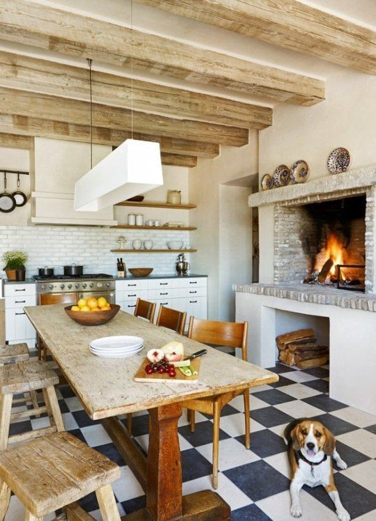 The Ultimate Cozy Kitchen Fireplaces Eclectic Kitchen Kitchen