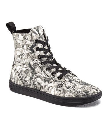 Another great find on #zulily! Black & Gray Hackney Boot by Dr. Martens #zulilyfinds