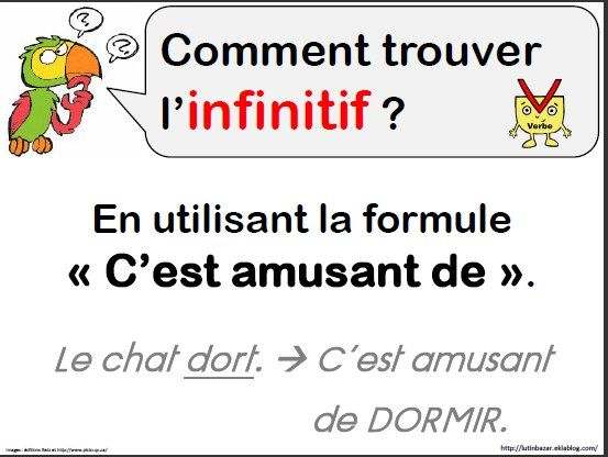LANGUE - conjugaison trouver l'infinitif | Classe de mots, La phrase ce1, Aide scolaire