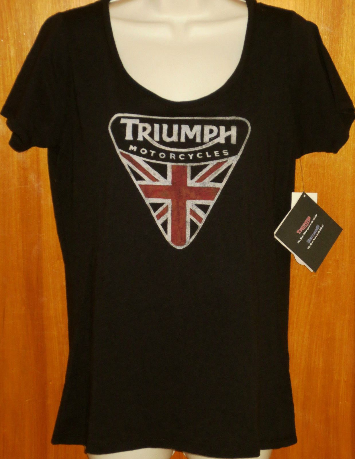 Triumph Motorcycle ~ by Lucky Brand ~ Women's Black Graphic Flag ...