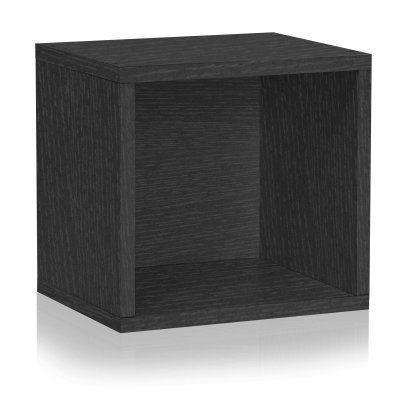 Way Basics Eco Stackable Open Storage Cube Organizer Unit - C-OCUBE-BK, Durable