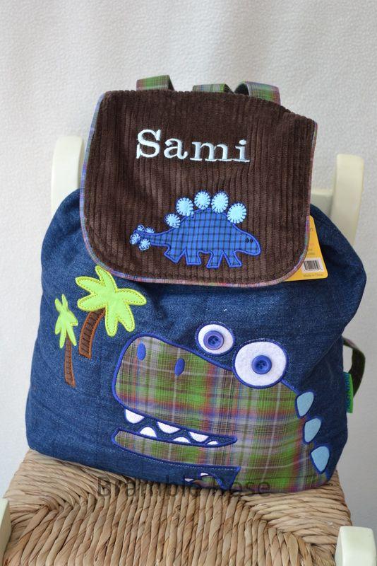 Personalised Childrens backpack Dinosaur design www.bramble-rose ...
