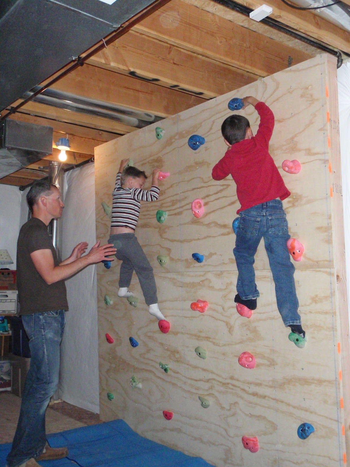 diy climbing wall indoor
