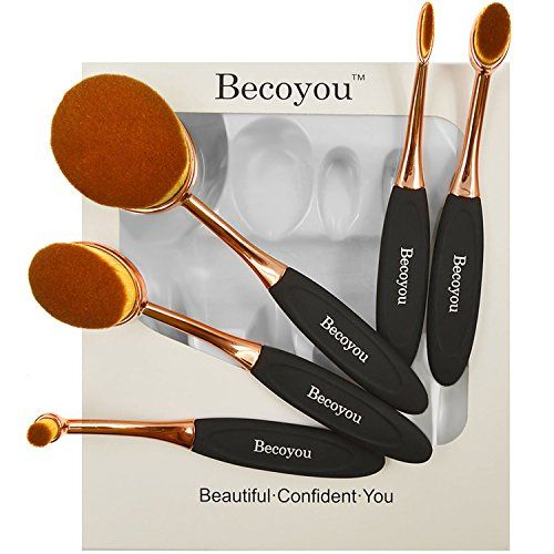 Beautiful Makeup Brushes Set, Becoyou New Fashionable Super Soft Oval Toothbrush Makeup Brush Cosmetic Brushes, Rose Gold