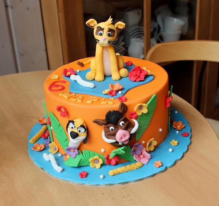 Lion King cake Lion King Symba cake cool cakes Pinterest