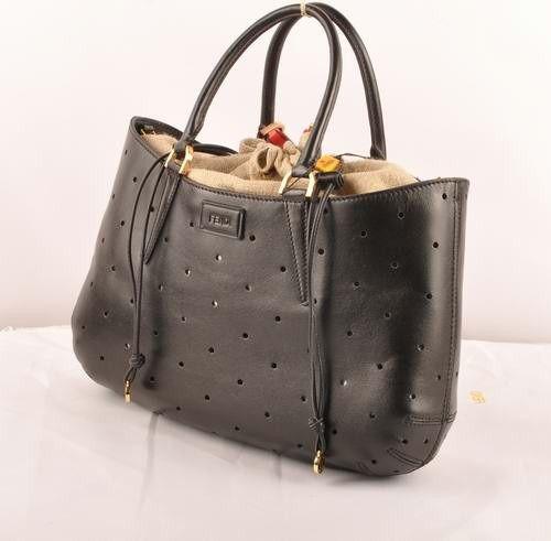 5a42c05086 2017 new Fendi B Fab Black Ferrari Leather Perforated Bag Large Top-handle  Bag 1