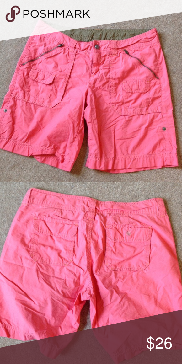 "Pink Athleta Shorts 100% cotton. 9"" inseam Athleta Shorts"
