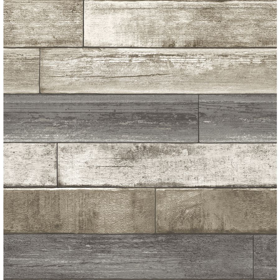Brewster Wallcovering Reclaimed Grey Non Woven Textured Wood 3 D